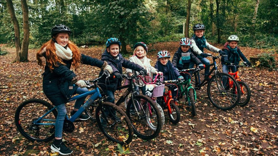 Picture of children on bikes