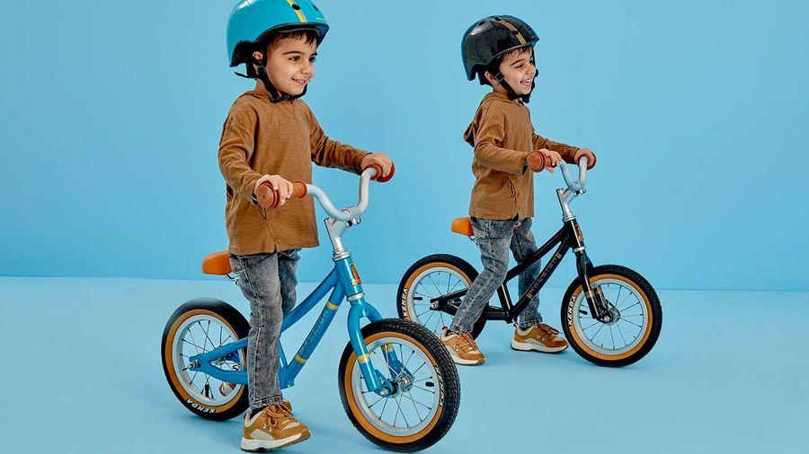 Kids on Raleigh Balance Bike