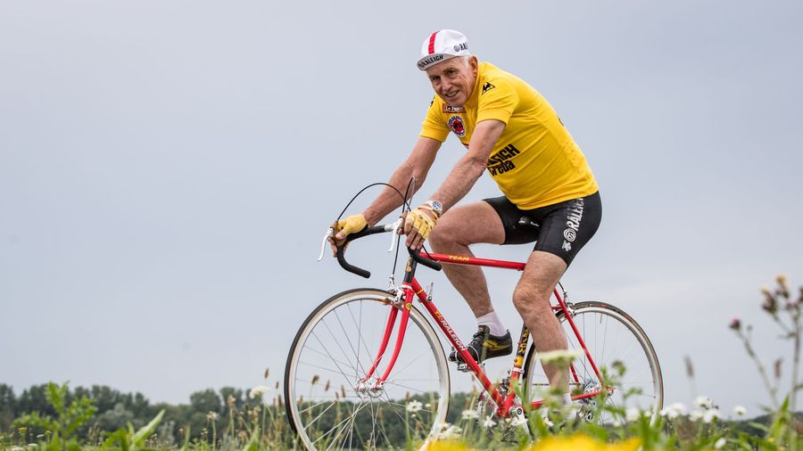 Joop Zoetemelk riding the TI-Raleigh Anniversary Edition