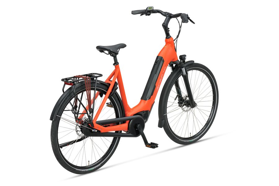 Vermillion Matte Sparta c-GRID ENERGY M7Tb dames elektrische fiets met Bosch Active Line middenmotor en PowerTube
