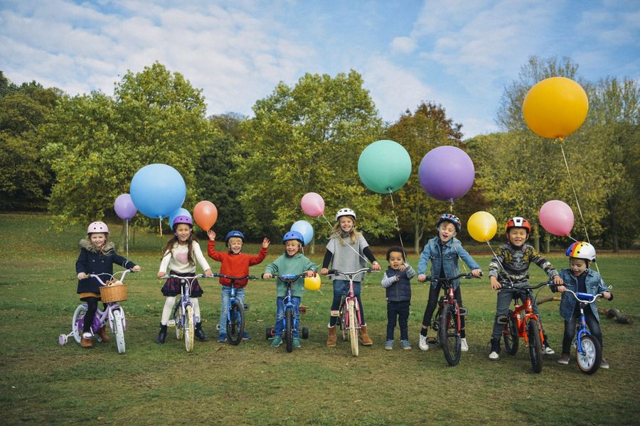 Children on Raleigh Bikes