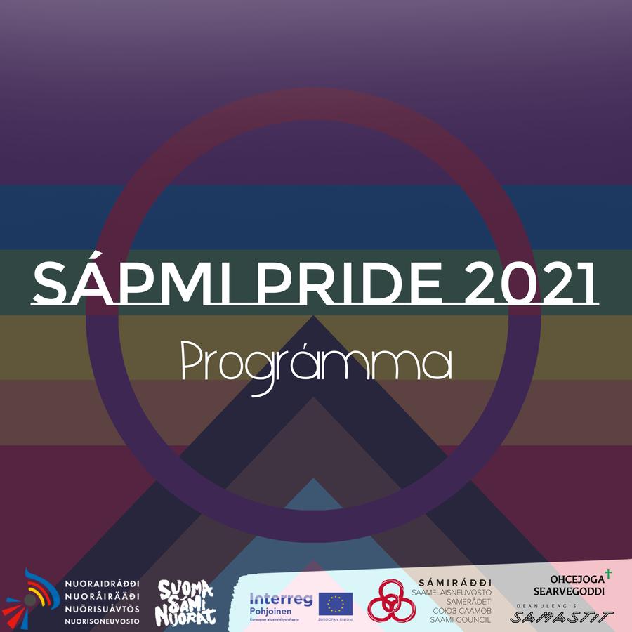 Sapmi pride 2021 program front page with sponsor logos