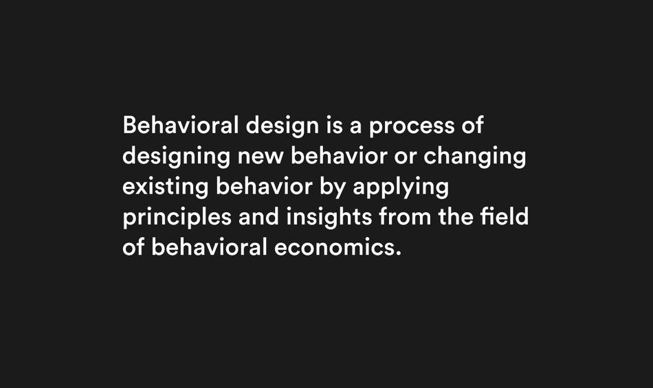 Behavioral Design Definition