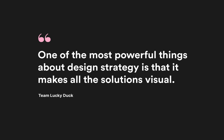 Quote Design strategy makes all solutions visual