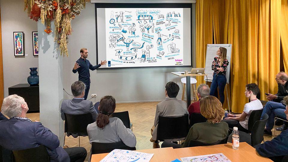 Veldtraject passend onderwijs voor ministerie OCW effectief communiceren foto bijeenkomst sneltekenen op locatie sneltekenaar inhuren