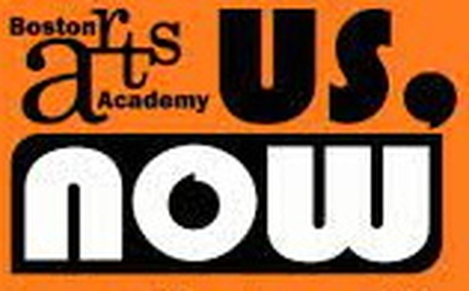 """The BAA logo with the words """"Us, Now"""" against an orange background,"""
