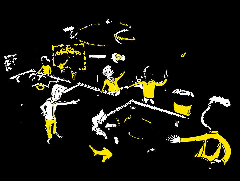 Visuele Verbinders praatplaat ontwikkeling proces design thinking transformatie den haag