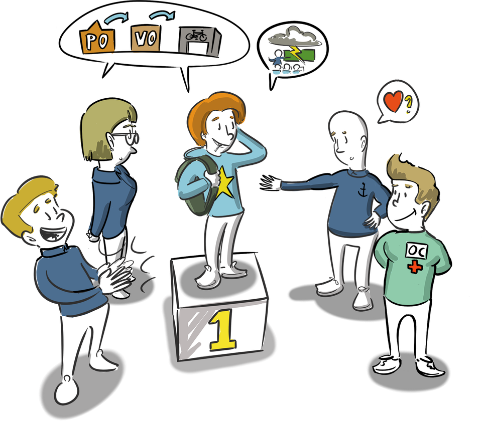 positie leerling in school passend onderwijs ministerie ocw animatie tekening strategische communicatie storytelling tekenen volwassenen