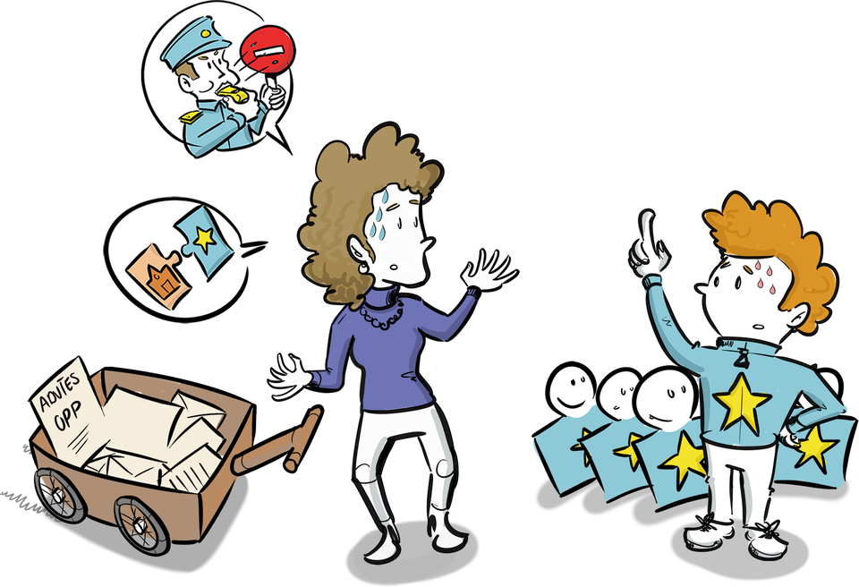 Evaluatie tekening Ministerie van onderwijs over positie ouder en leerlingen visualisaties