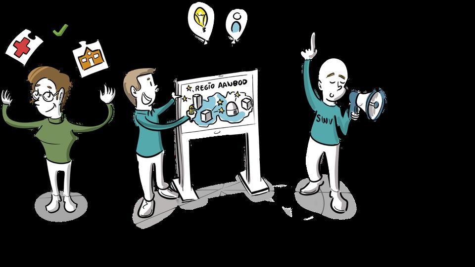 beeld gemeente en zorg passend onderwijs samenwerkingsverbanden overzicht tekeningen event brainstorm