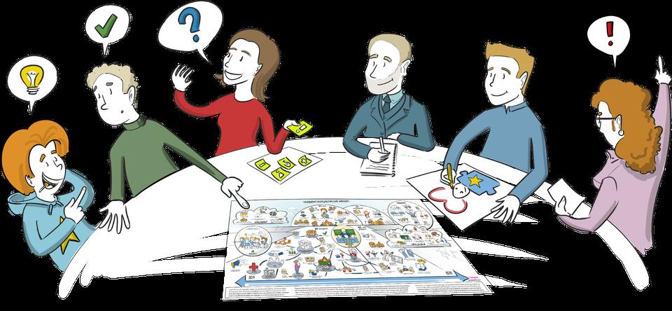 praatplaat verslag van een vergadering tekeningen procestekening samen tekenen visueel denken wat is design thinking