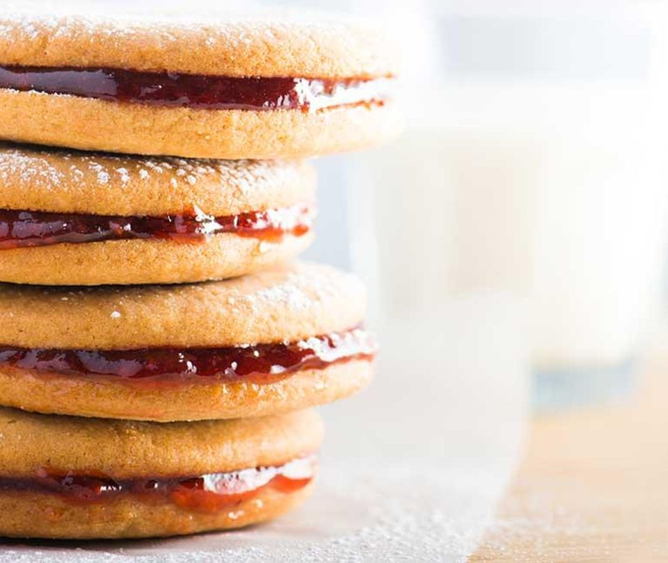 Photo of Easy Peanut Butter and Jelly Sandwich Cookies
