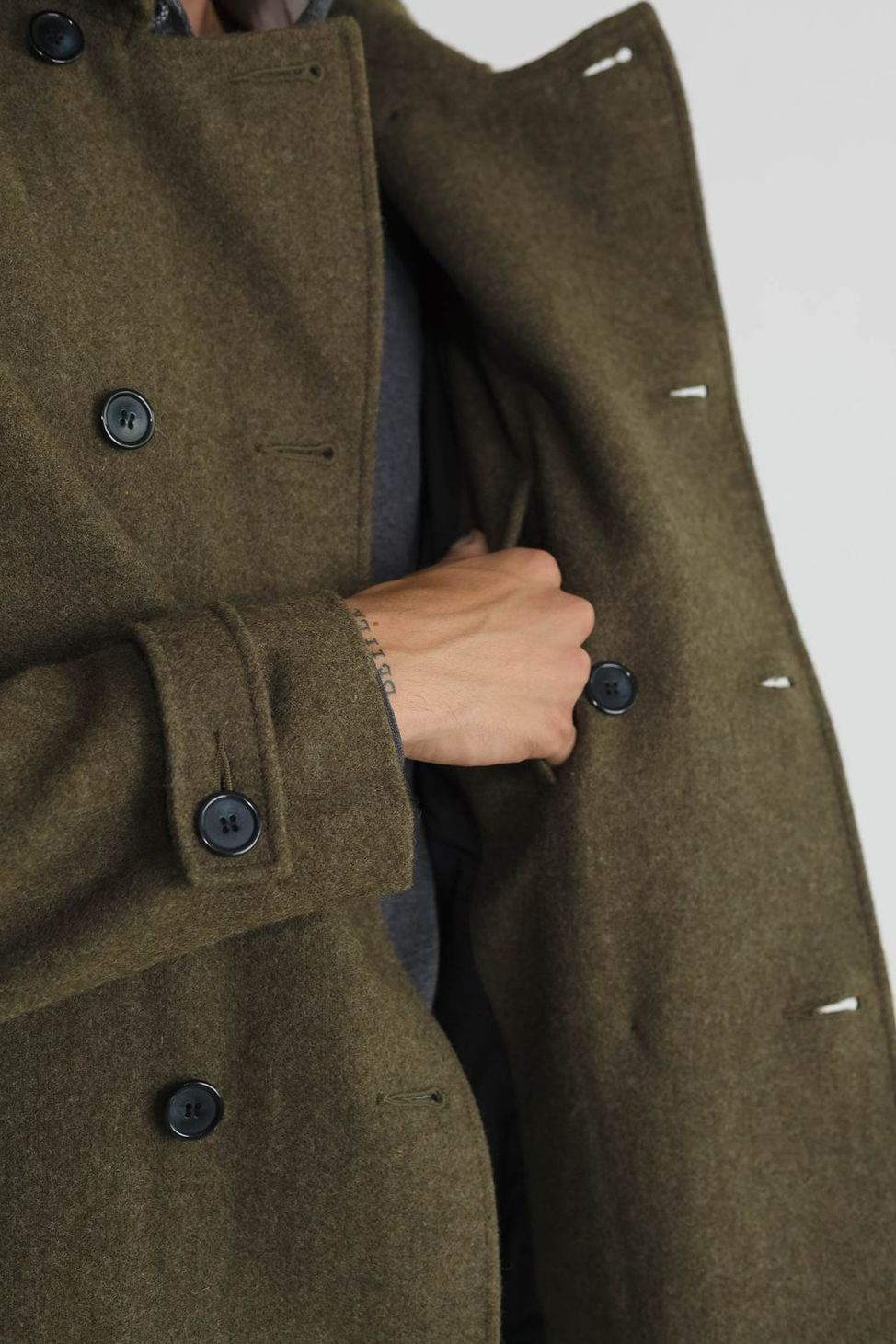 Japanese Loden Pea Coat