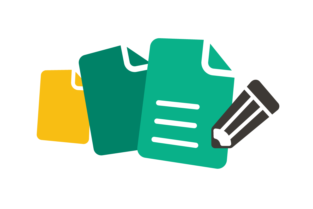 Processing paperwork icon