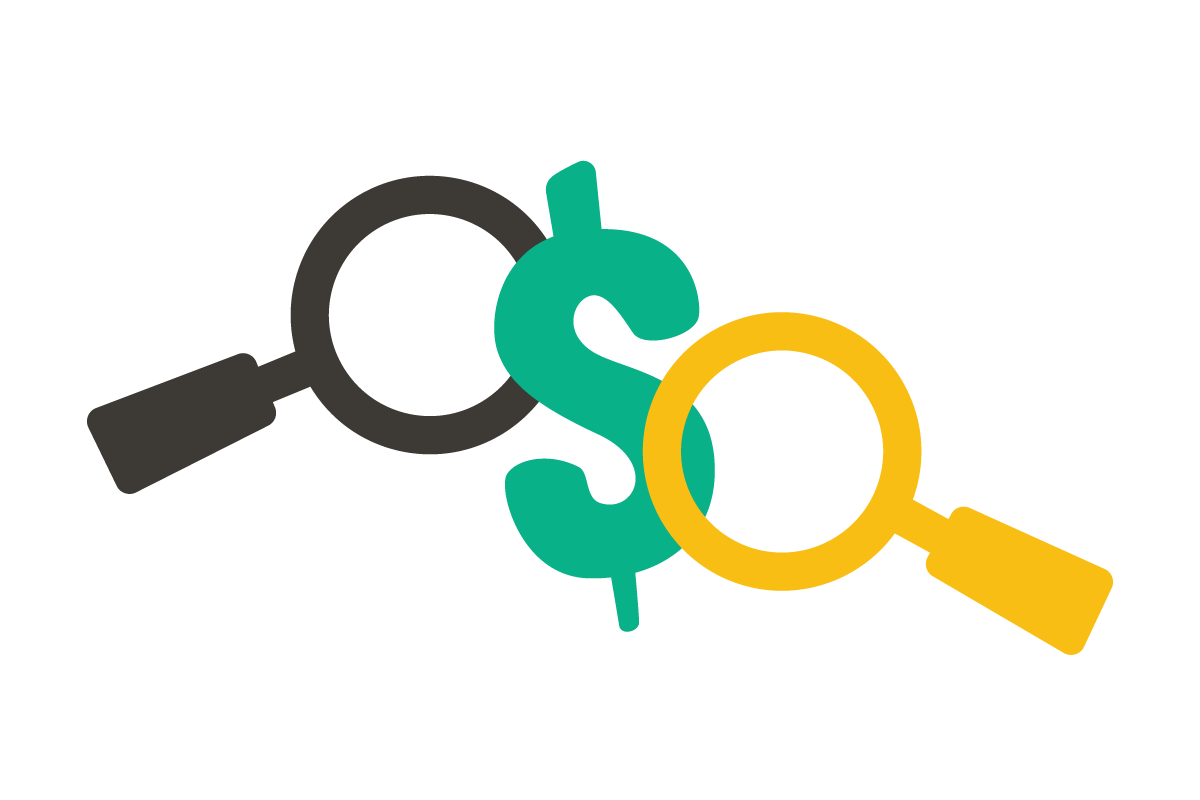 Transparent price icon