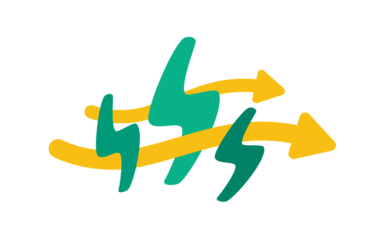 Flowing electricity icon