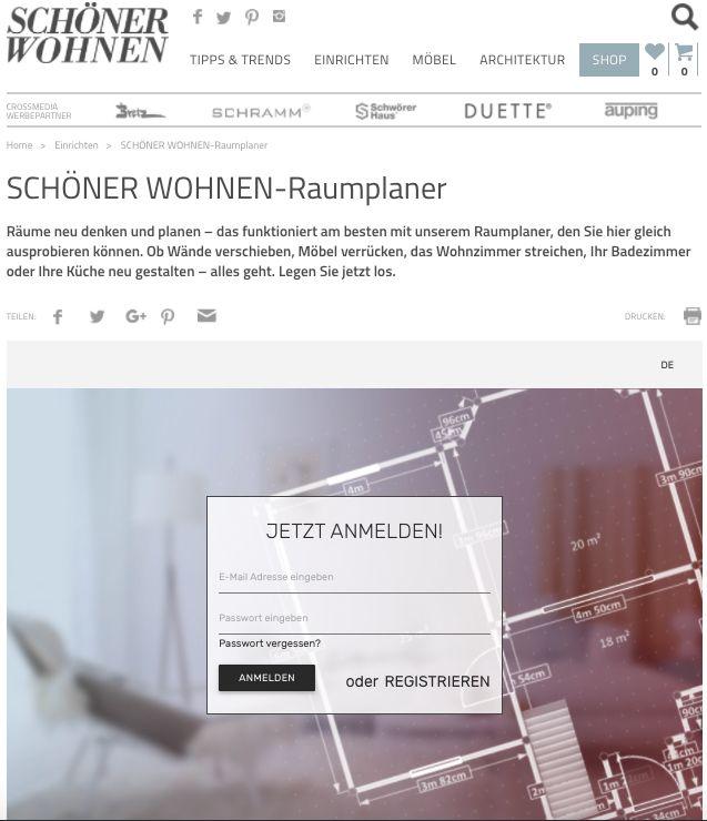 Schoenerwohnen 3d raumplaner de roomle for Raumplaner tool