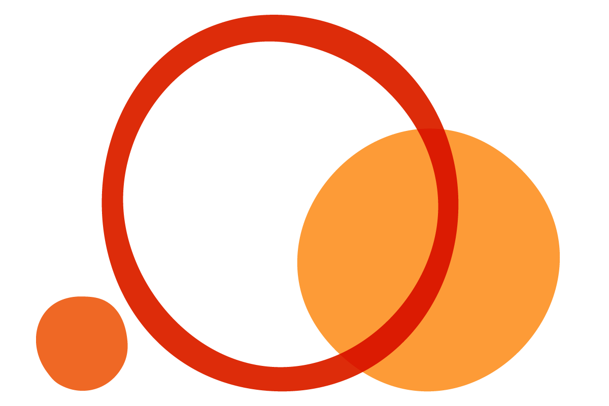 Abstract illustration using orange circles