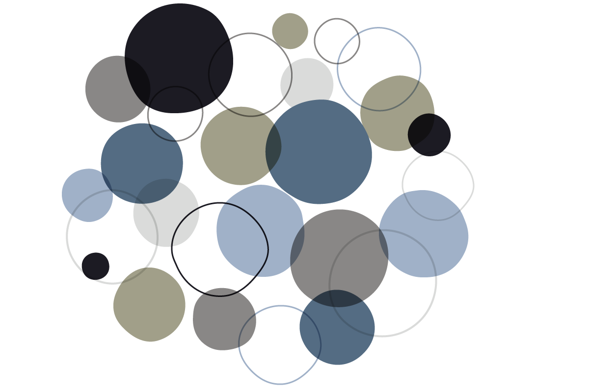 Abstract shape using overlapping circles