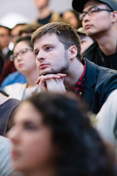 Students at a Hult event