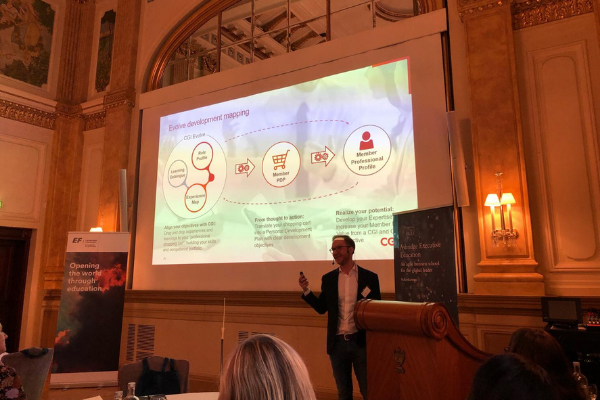 Presentation at one of our events in Helsinki