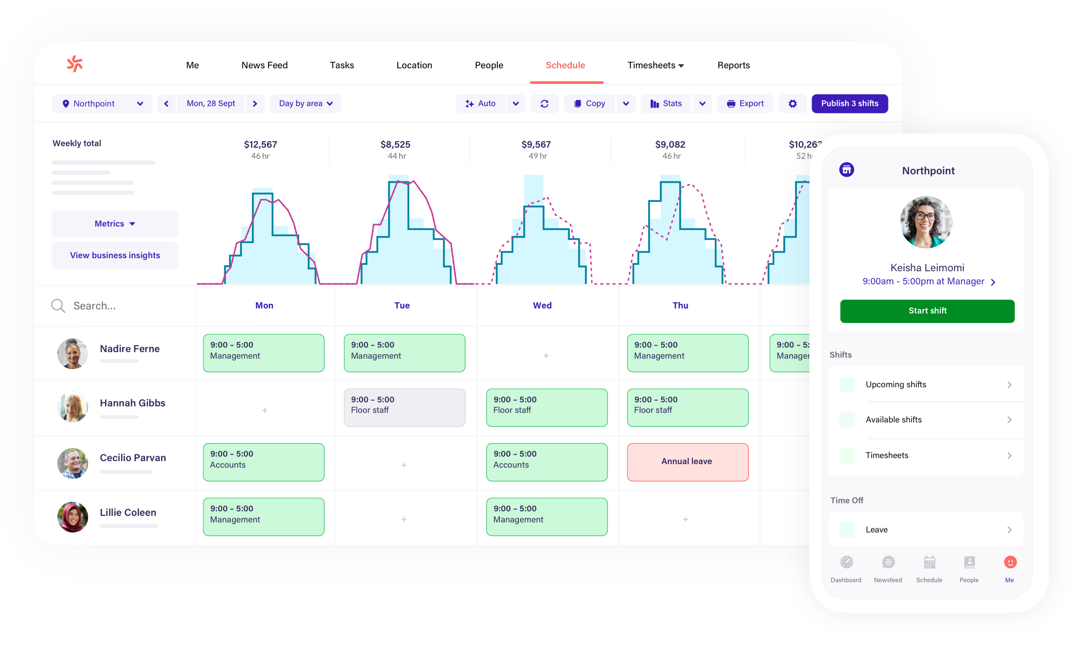 scheduling and timesheets software