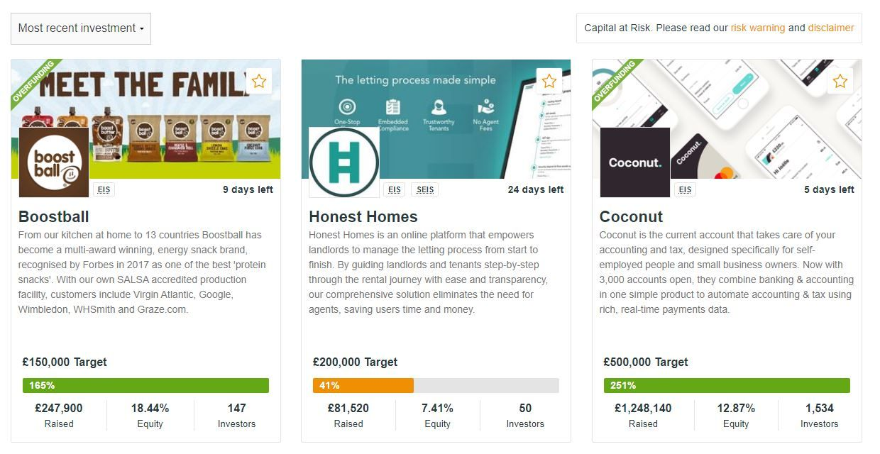 crowdcube investment opportunities