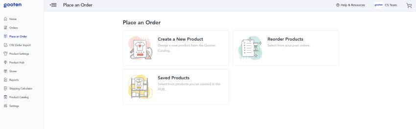 gooten sample order