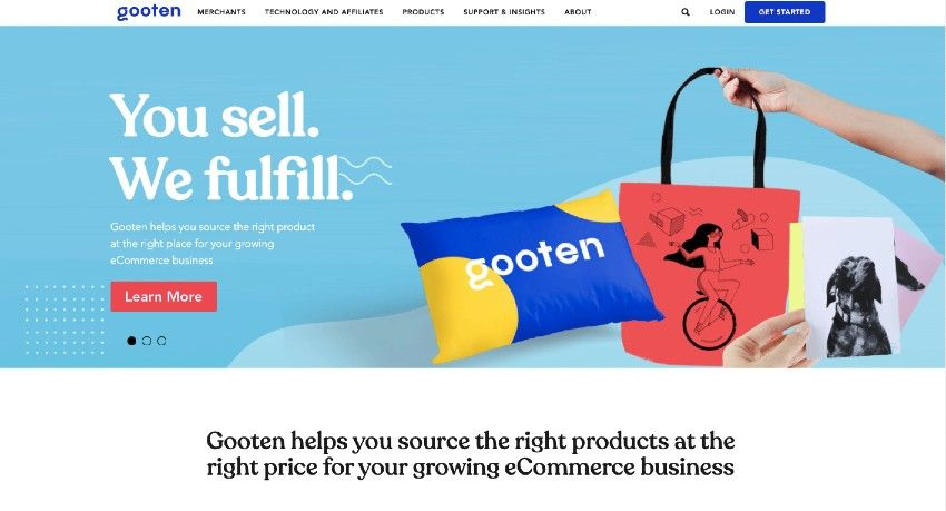 Gooten homepage