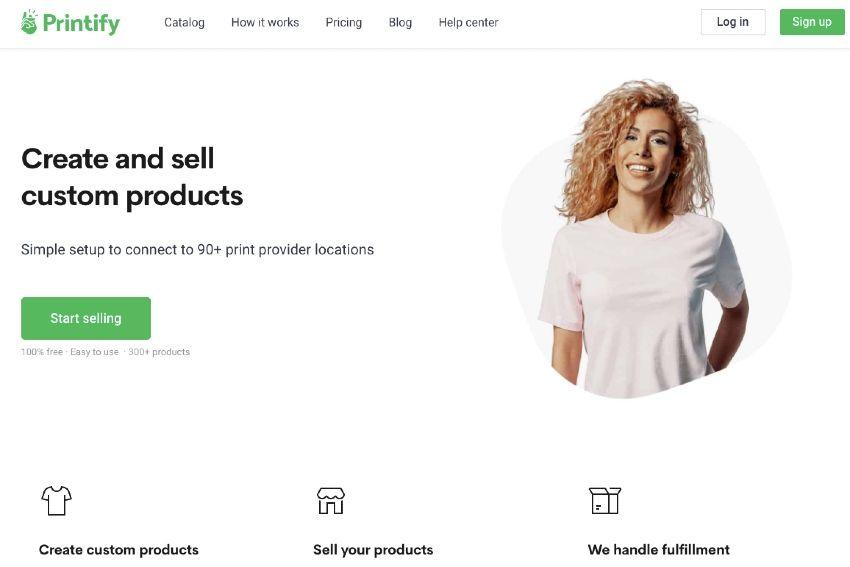 printify homepage