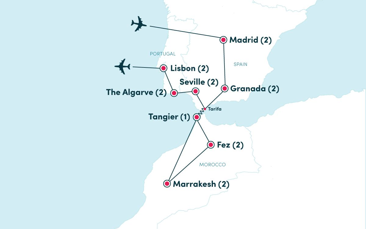 Map Of Spain Morocco And Portugal.Spain Portugal Morocco Ef Ultimate Break
