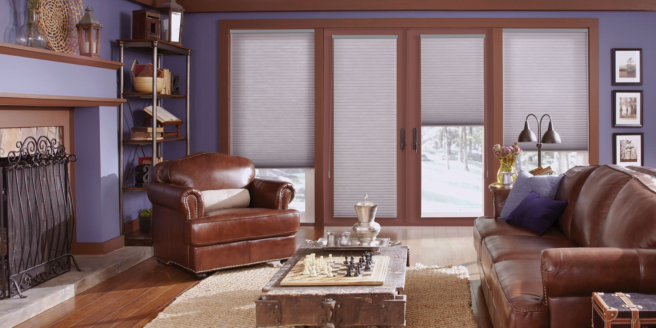 Inside mounting of blinds and shades offers a clean, stylish look