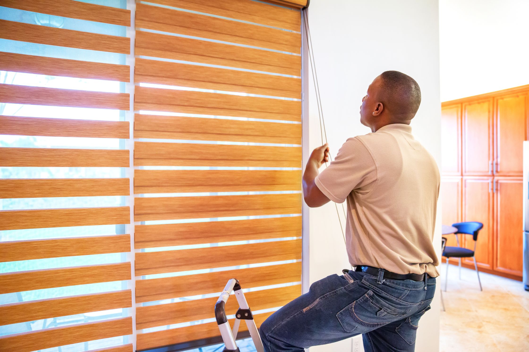 Stoneside's installation specialists ensure that your custom window treatments are installed perfectly