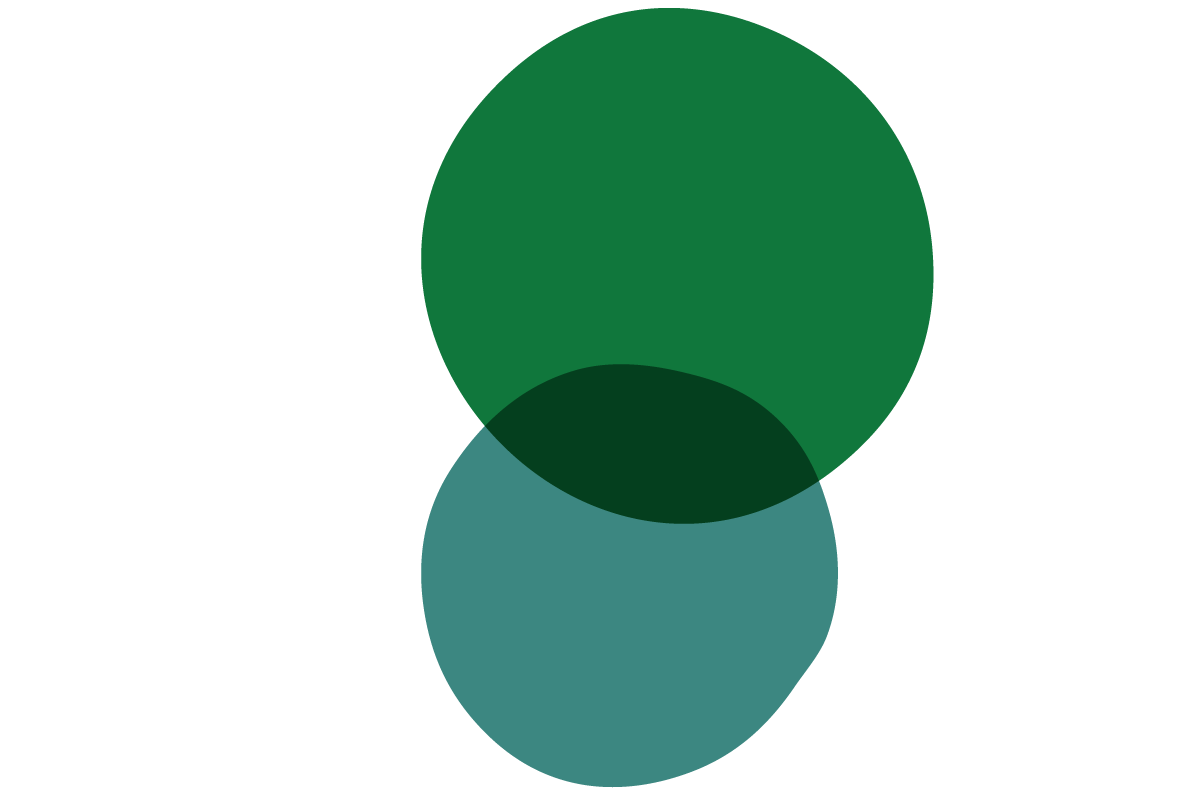 Green abstract venn diagram illustration