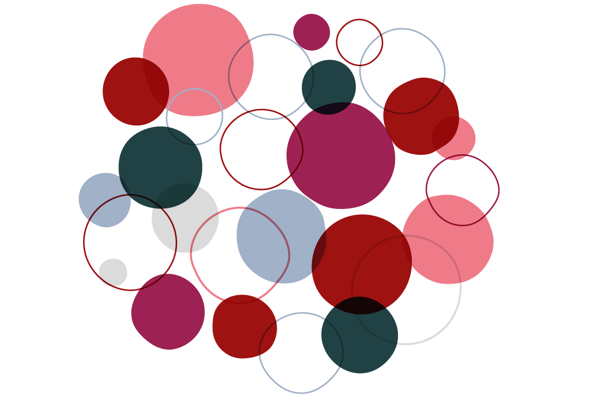 Abstract illustration using overlapping circles