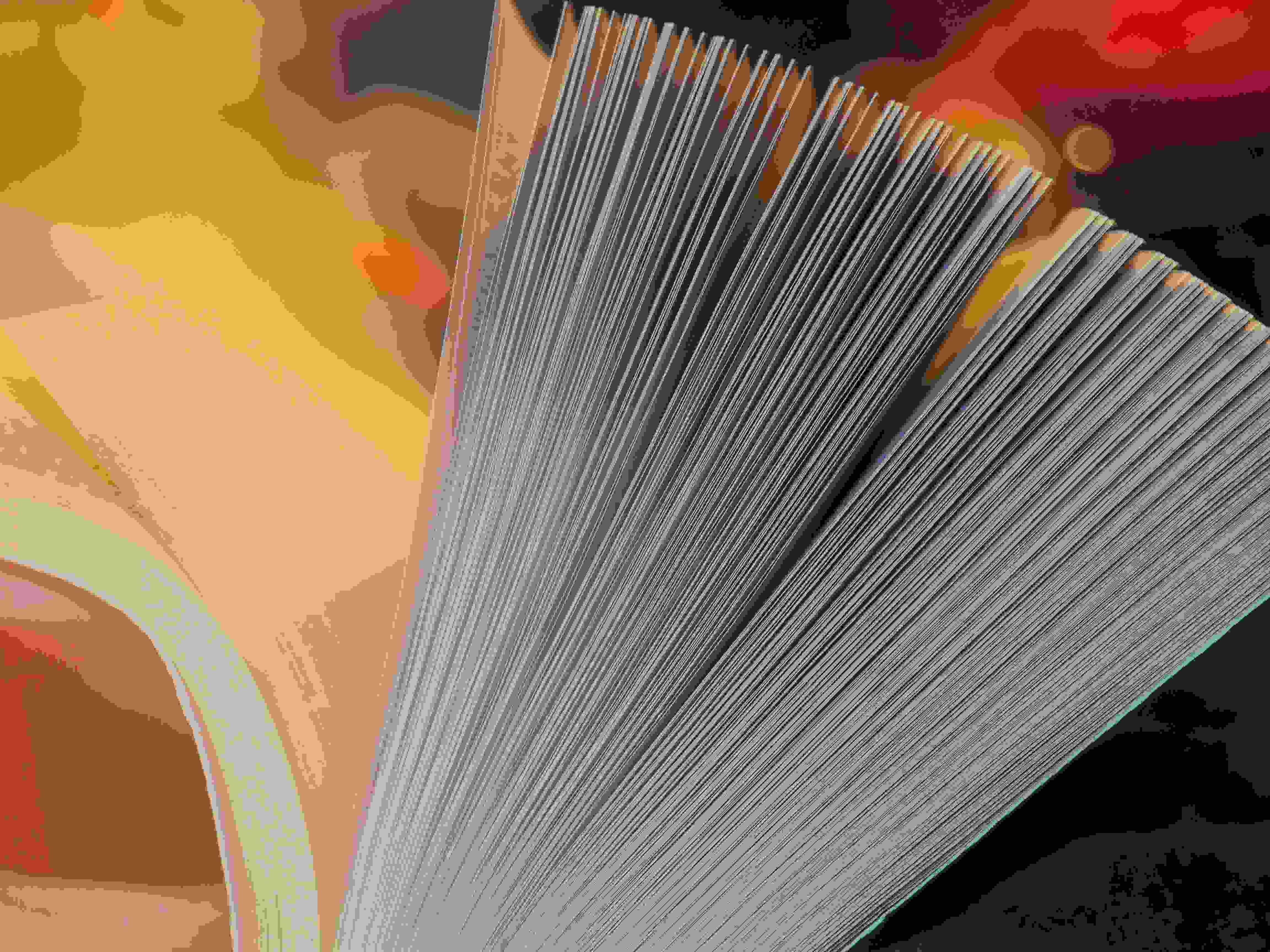 Abstract turning pages of a book image