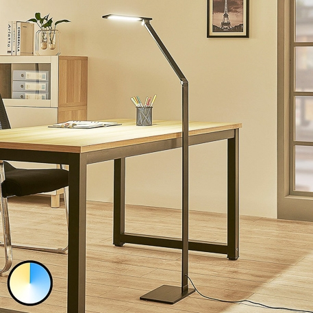 dimmable led office floor lamp salome by lucande