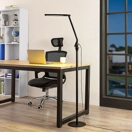 black office floor lamp liano by arcchio