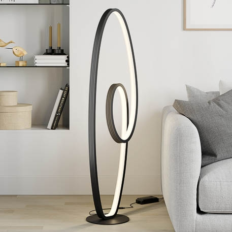 dimmable black led floor lamp bronwyn by lucande