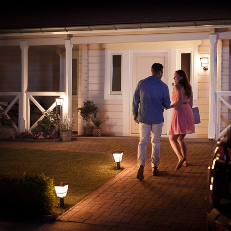 philips hue white and color ambiance led pillar lights econic