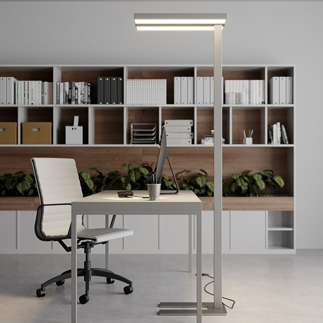 dimmable led office floor lamp logan
