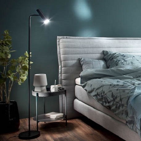 dimmable black led floor lamp stina