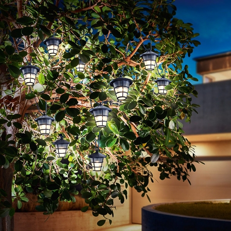 decorative solar led light chain in asian style