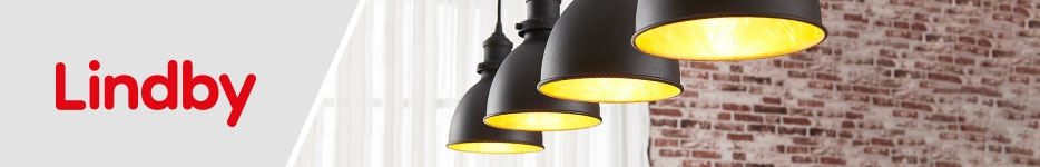 Shop lighting by designer brand Lindby, exclusively at lights.ie