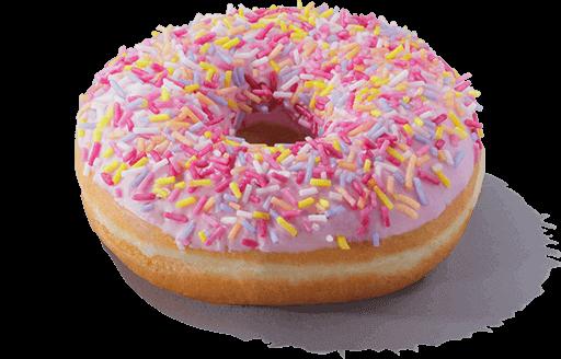 A sugar strand doughnut