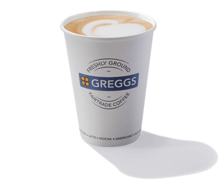 A cup of freshly ground Greggs coffee