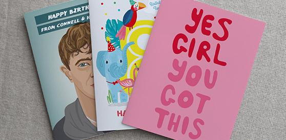 Three Paperchase Plus Cards