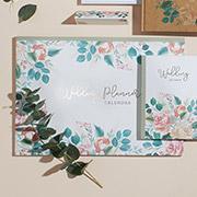 Floral wedding planning calendar