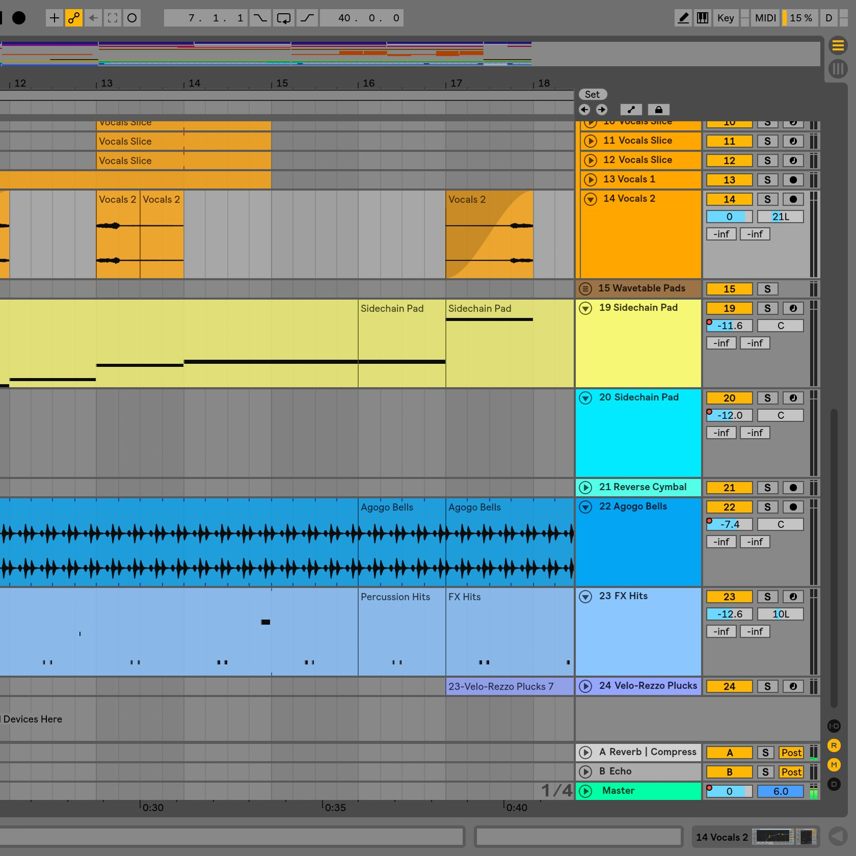bleeding of Ableton