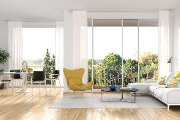 Offenes Wohnzimmer, freie Wohnfläche